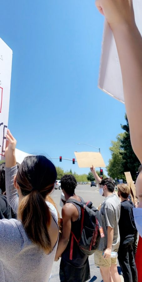 Protestors call for police reform after being prompted by recent events.