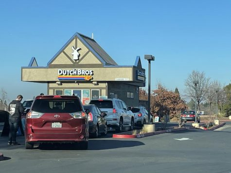 Dutch Bros. Coffee is a popular location where people can purchase drinks and spend time in the parking lot with one another.