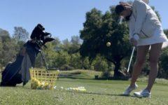 Lauren Pierce strikes a shot at range practice.