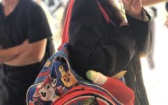 """Campbell Karres shows off her PAWsitively amazing Paw Patrol Backpack. """"The propeller spins!"""" Campbell said."""