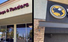Kikis Chicken Place (5050 Rocklin Rd ste 1&2, Rocklin, CA 95677) and Buffalo Wild Wings (1168 Galleria Blvd Unit 200, Roseville, CA 95678)