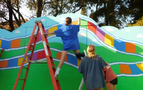 Floating above it all for Granite Bay High school's 25th anniversary
